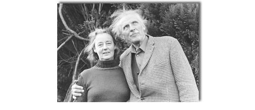 JG Bennett & Elizabeth Bennett at Sherborne on December 12, 1974, the day before he died.