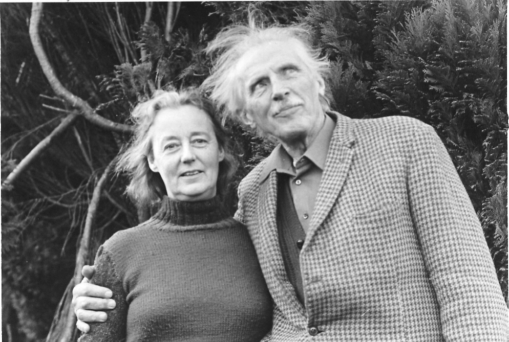 Elizabeth & John Bennett at Sherborne, Thursday, December 12, 1974, the day before he died. ©Avis Rappaport-Licht