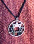 Enneagram Pendant with adjustable black cord